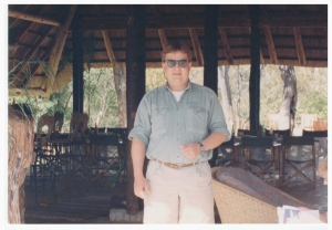 The inimitable host at Masuwe in the 90's, Jonathan Ellway